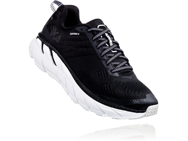 Hoka One One Clifton 6 Løbesko Damer, black/white